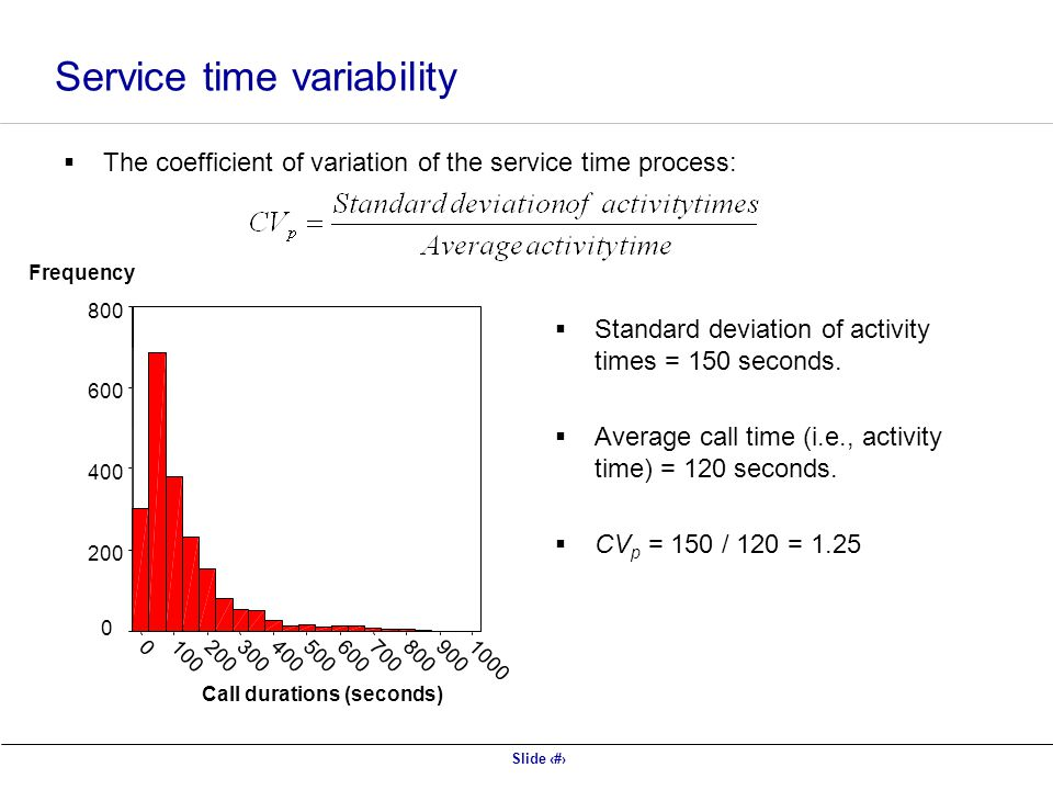 Service time variability