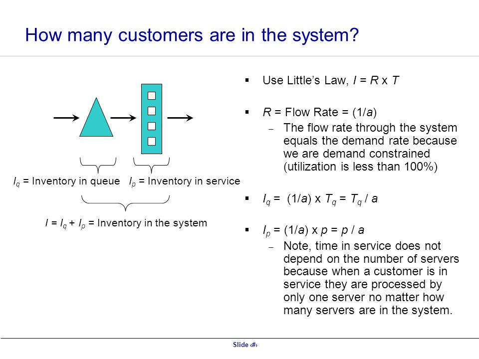 How many customers are in the system