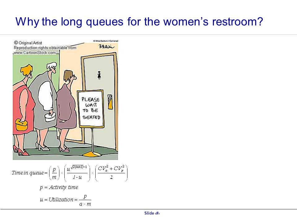 Why the long queues for the women's restroom
