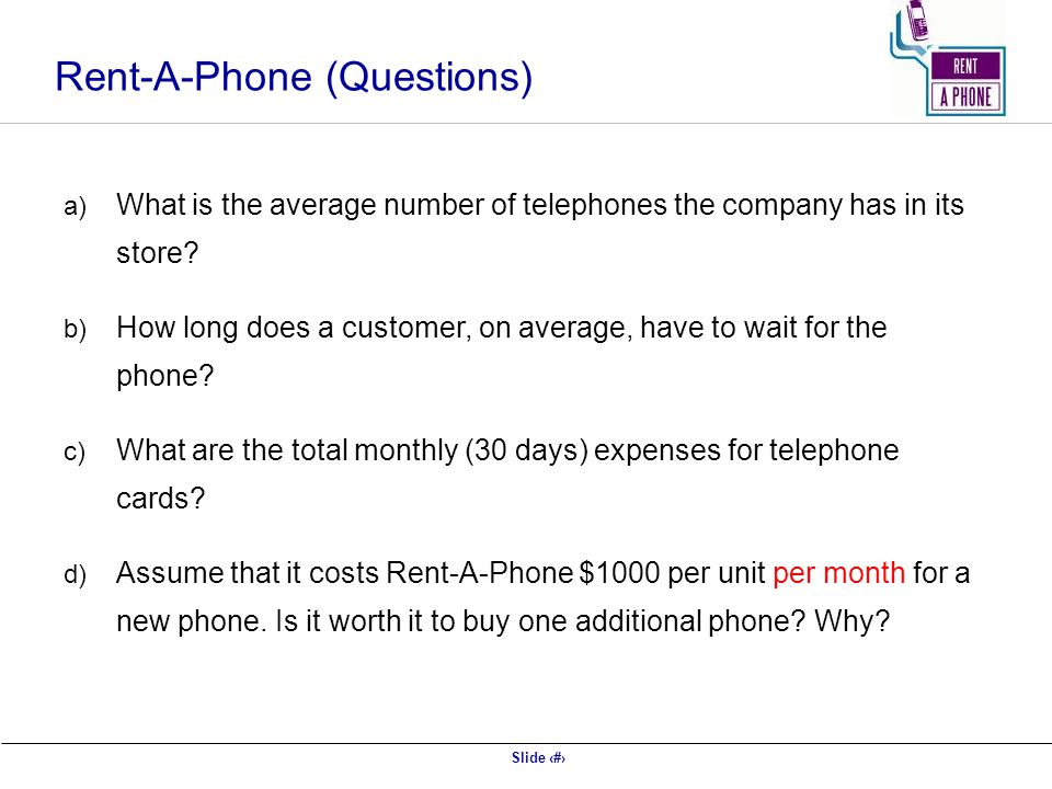 Rent-A-Phone (Questions)