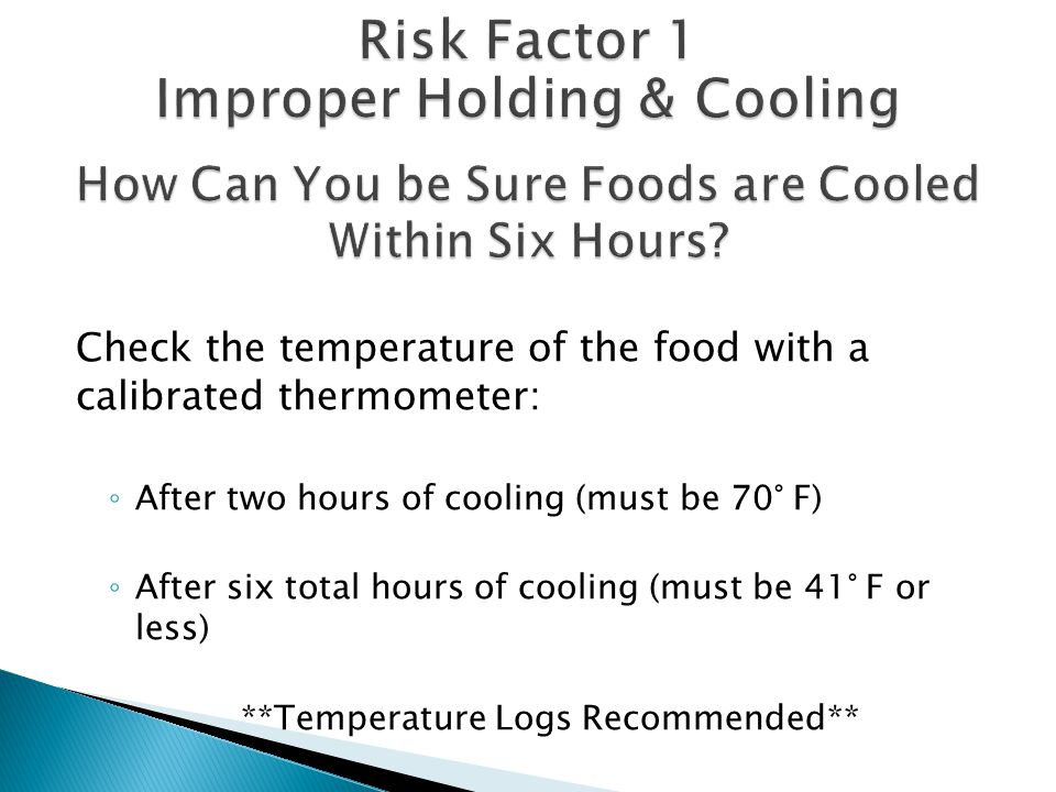 How Can You be Sure Foods are Cooled Within Six Hours