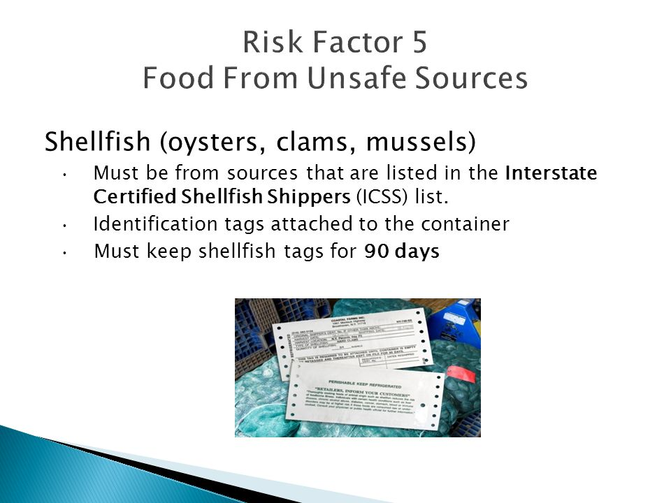 Risk Factor 5 Food From Unsafe Sources