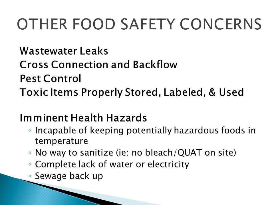 OTHER FOOD SAFETY CONCERNS