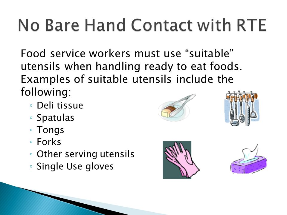 No Bare Hand Contact with RTE