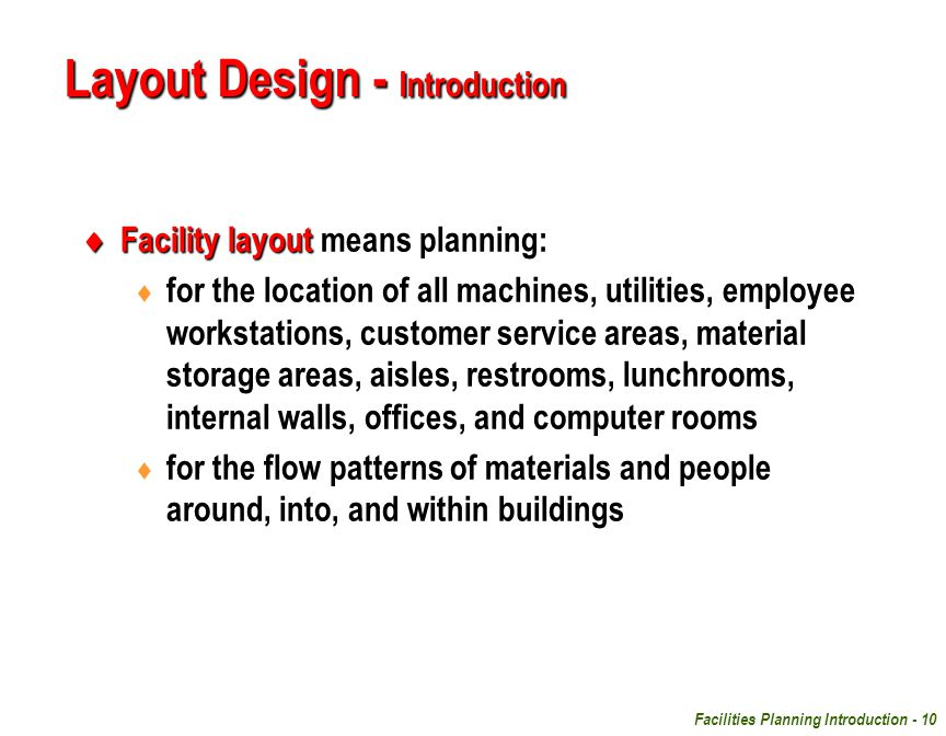 Layout Design - Introduction