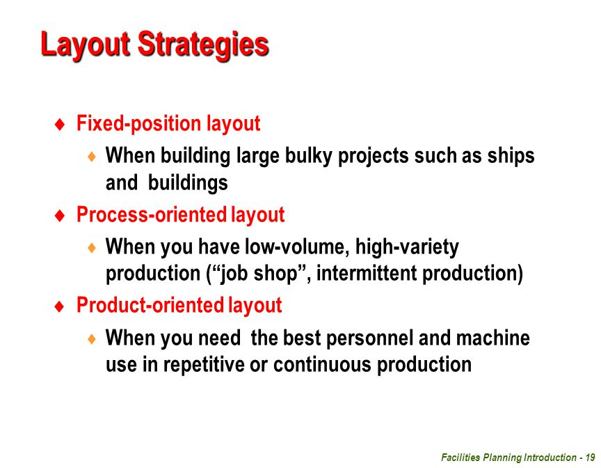 Layout Strategies Fixed-position layout