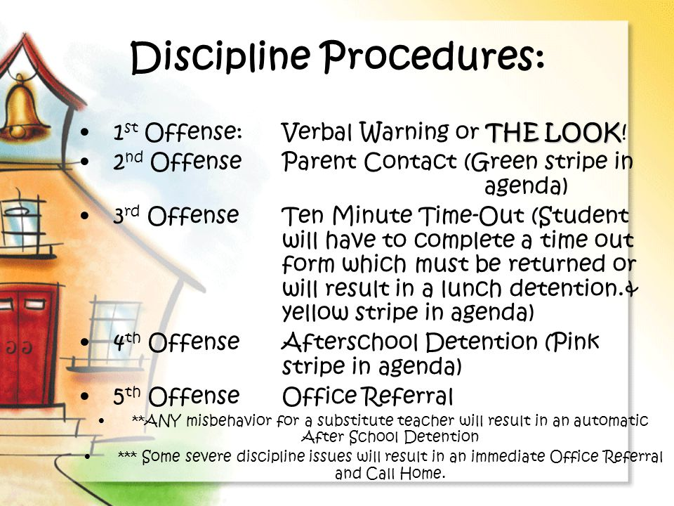Discipline Procedures: