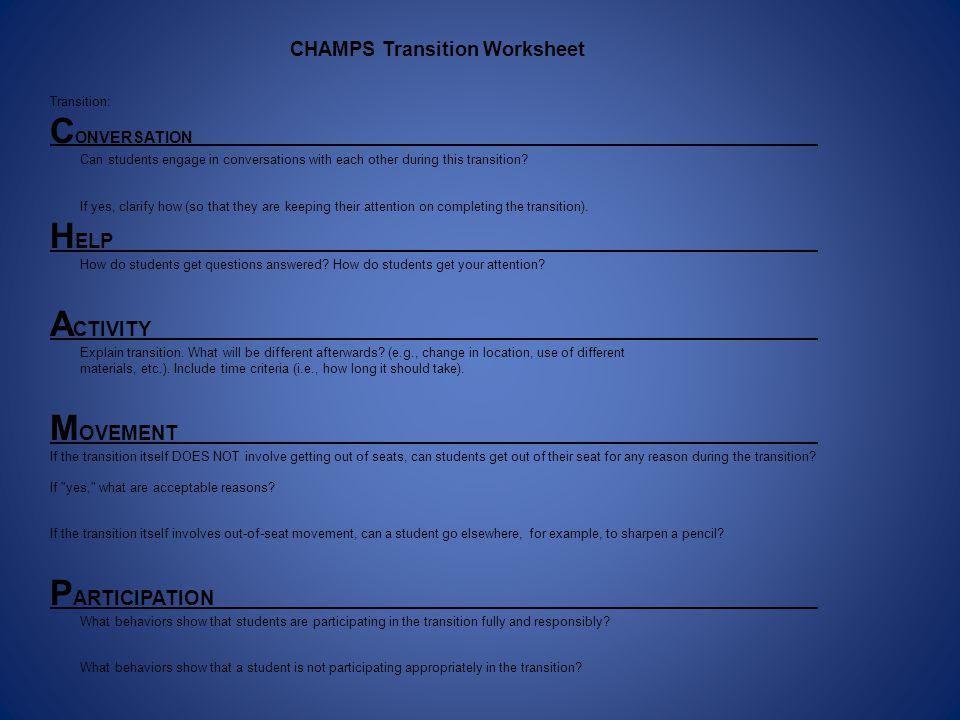 CONVERSATION HELP ACTIVITY MOVEMENT PARTICIPATION