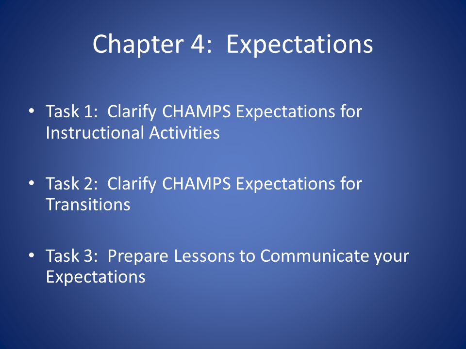 Chapter 4: Expectations