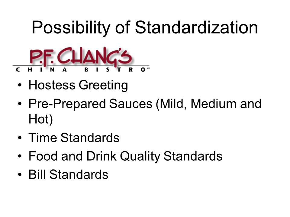 Possibility of Standardization