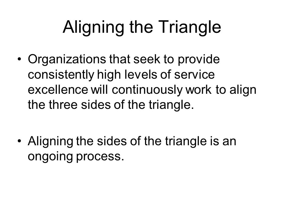 Aligning the Triangle