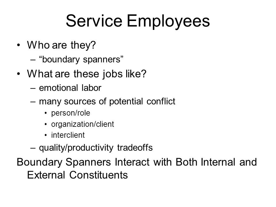 Service Employees Who are they What are these jobs like