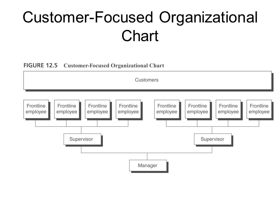 Customer-Focused Organizational Chart
