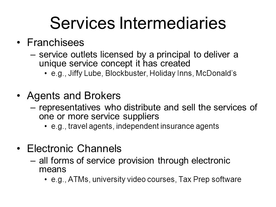 Services Intermediaries