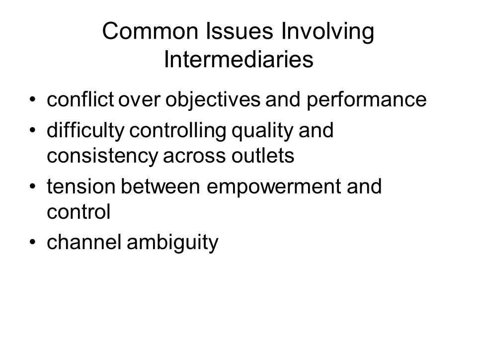 Common Issues Involving Intermediaries