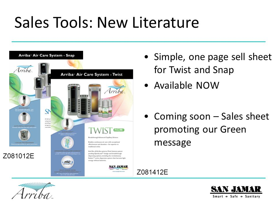 Sales Tools: New Literature