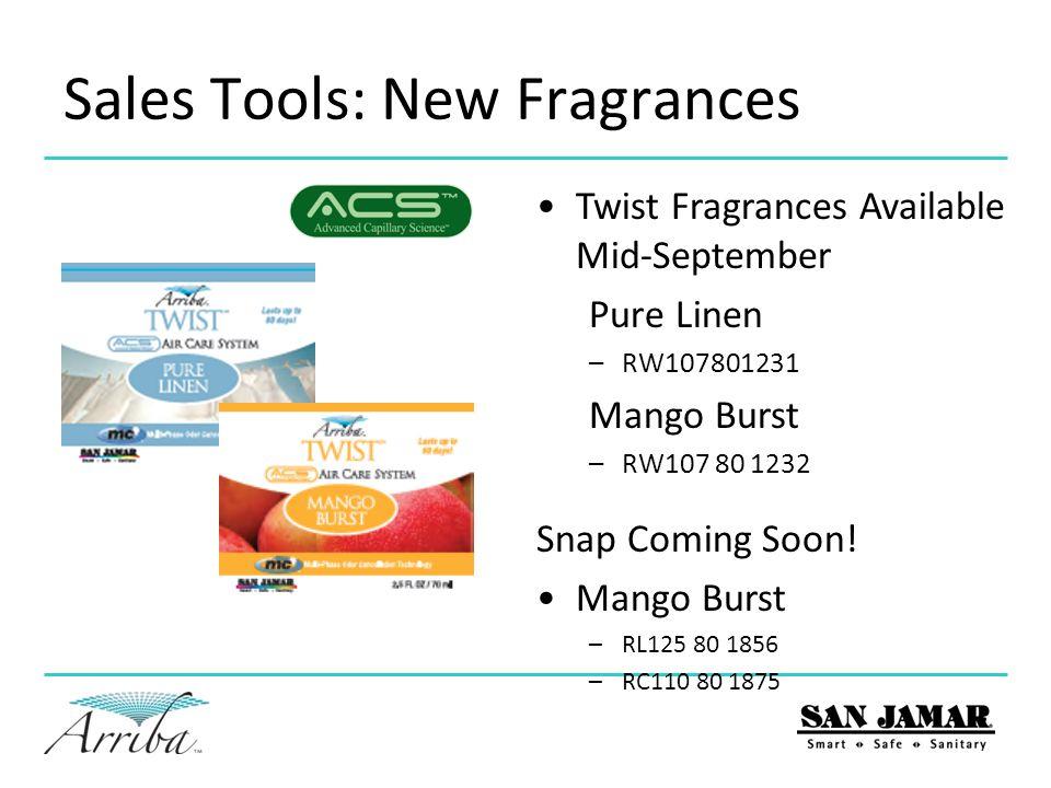 Sales Tools: New Fragrances