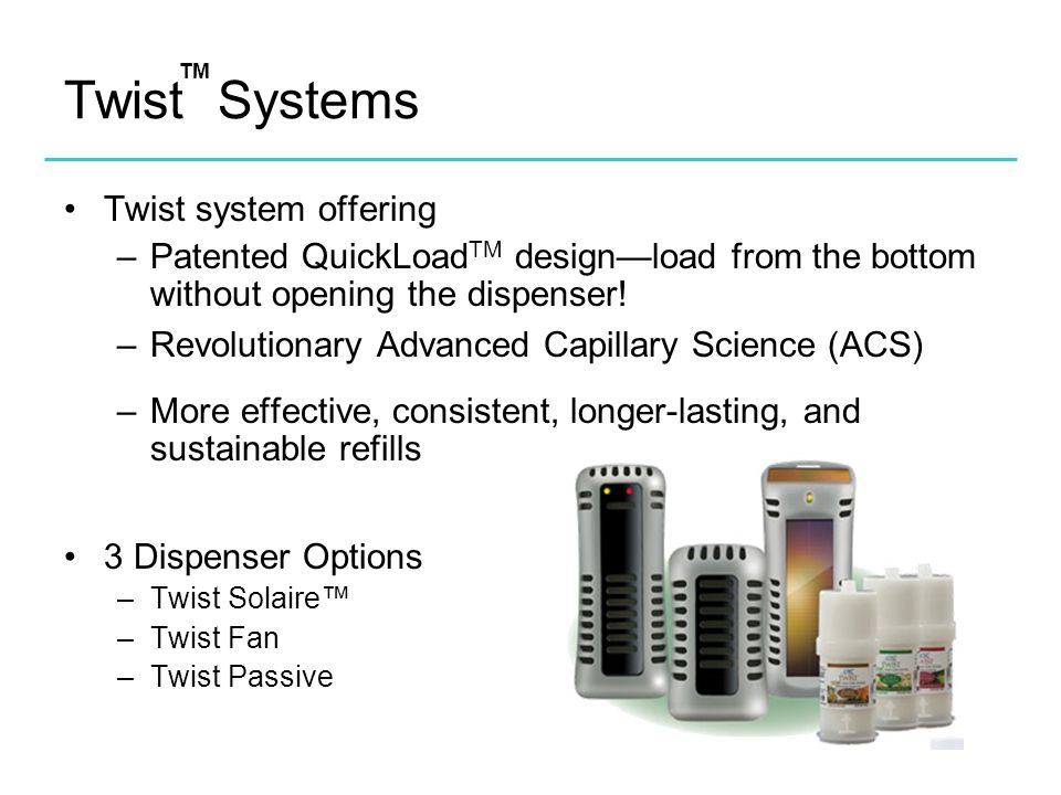 Twist Systems Twist system offering