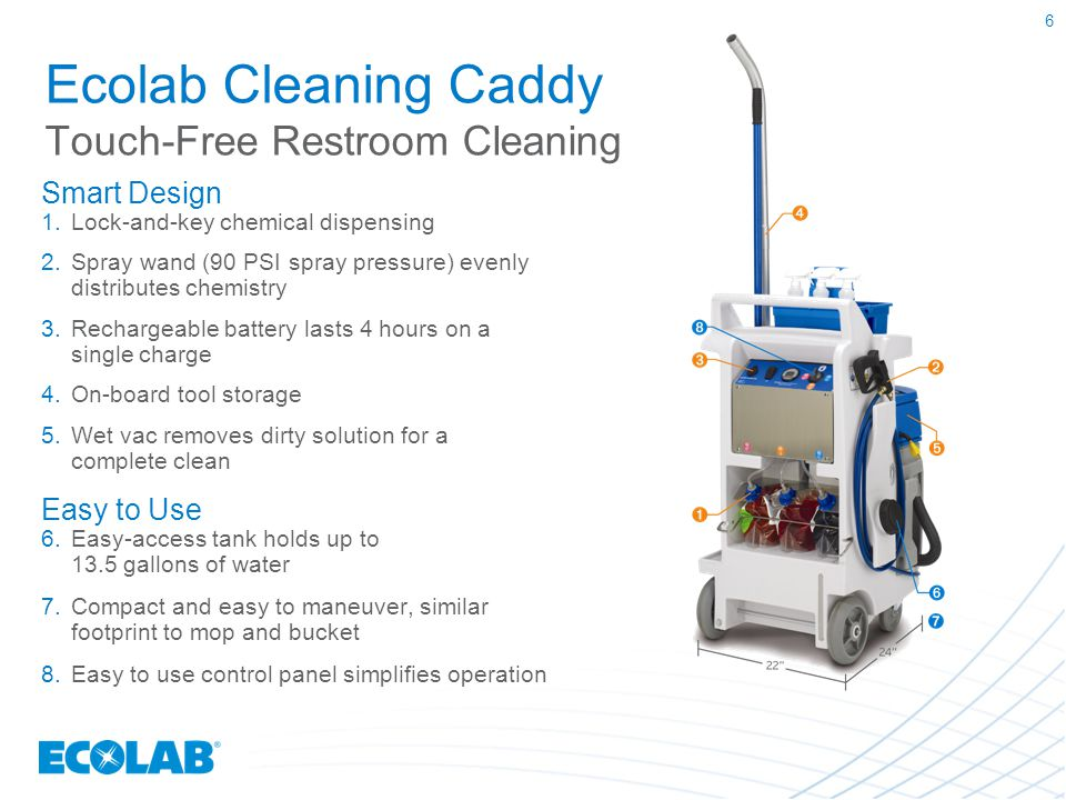 Ecolab Cleaning Caddy Touch-Free Restroom Cleaning