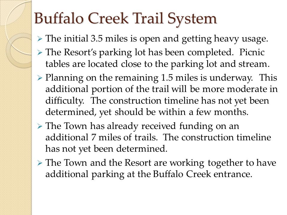 Buffalo Creek Trail System