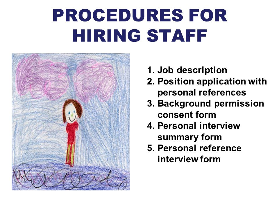 PROCEDURES FOR HIRING STAFF