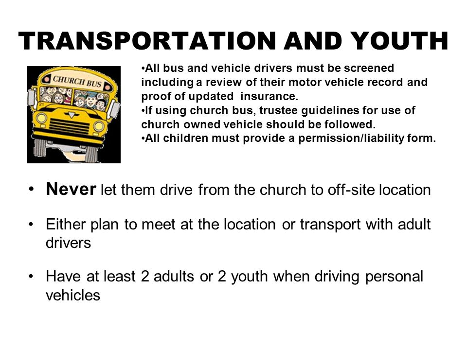 TRANSPORTATION AND YOUTH