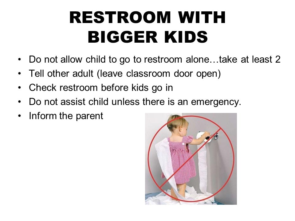 RESTROOM WITH BIGGER KIDS
