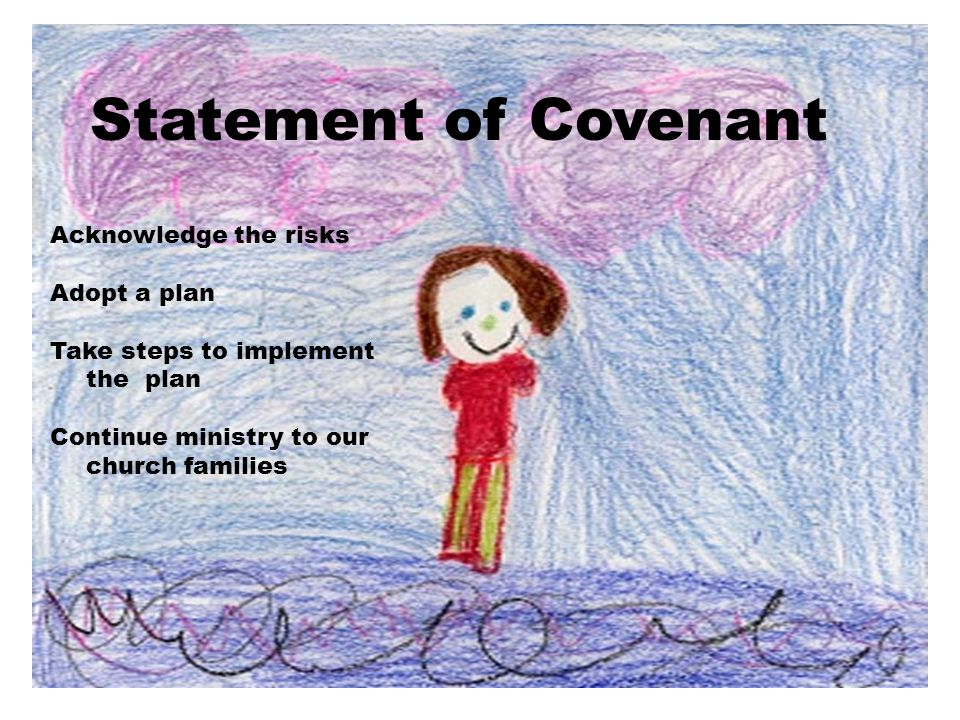 Statement of Covenant Acknowledge the risks Adopt a plan