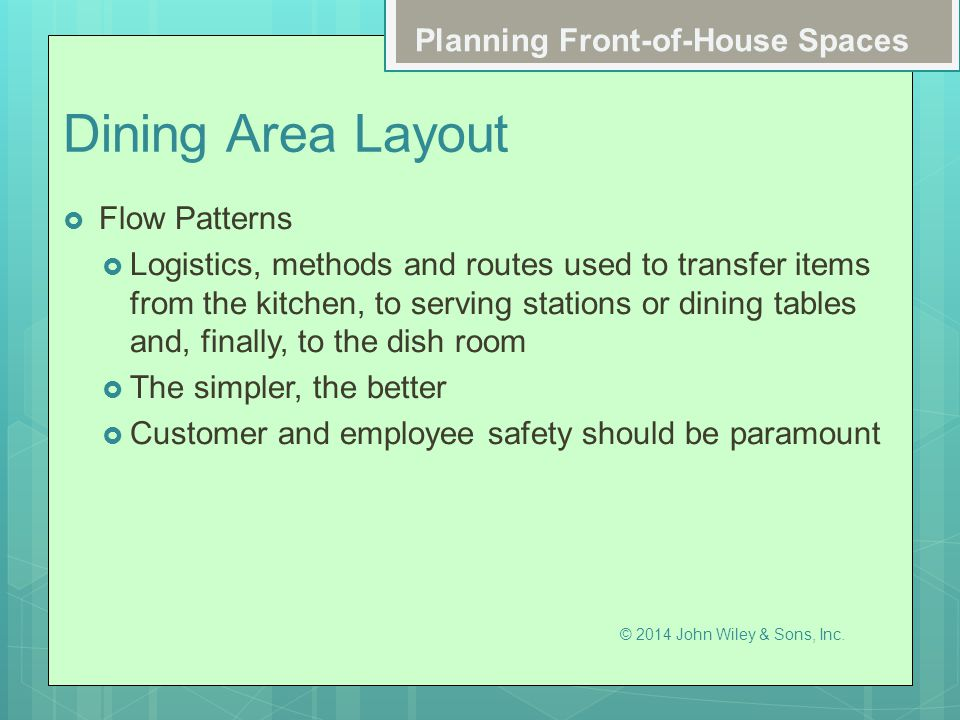 Dining Area Layout Planning Front-of-House Spaces Flow Patterns