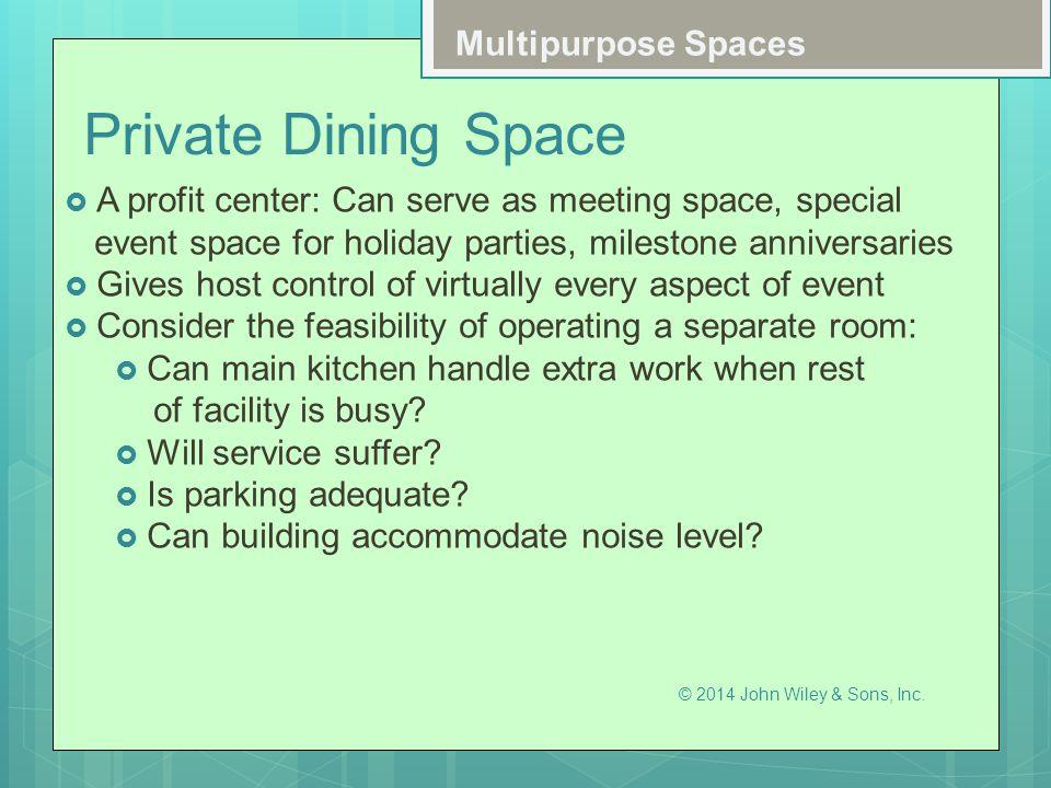 Private Dining Space Multipurpose Spaces