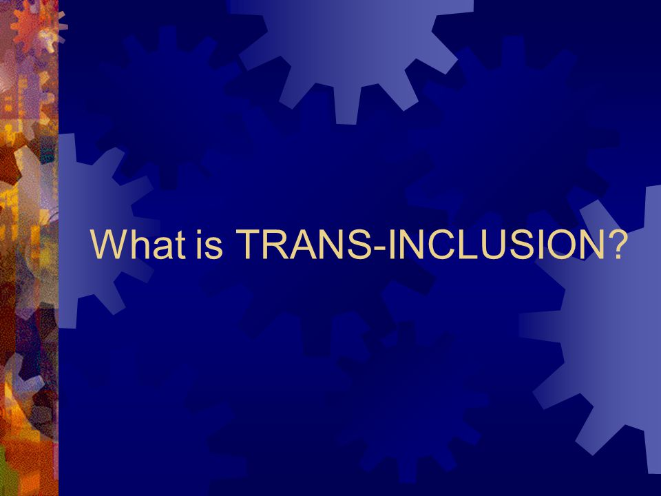 What is TRANS-INCLUSION