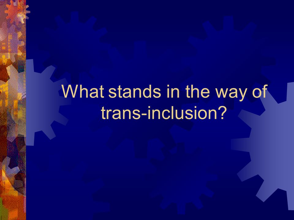 What stands in the way of trans-inclusion