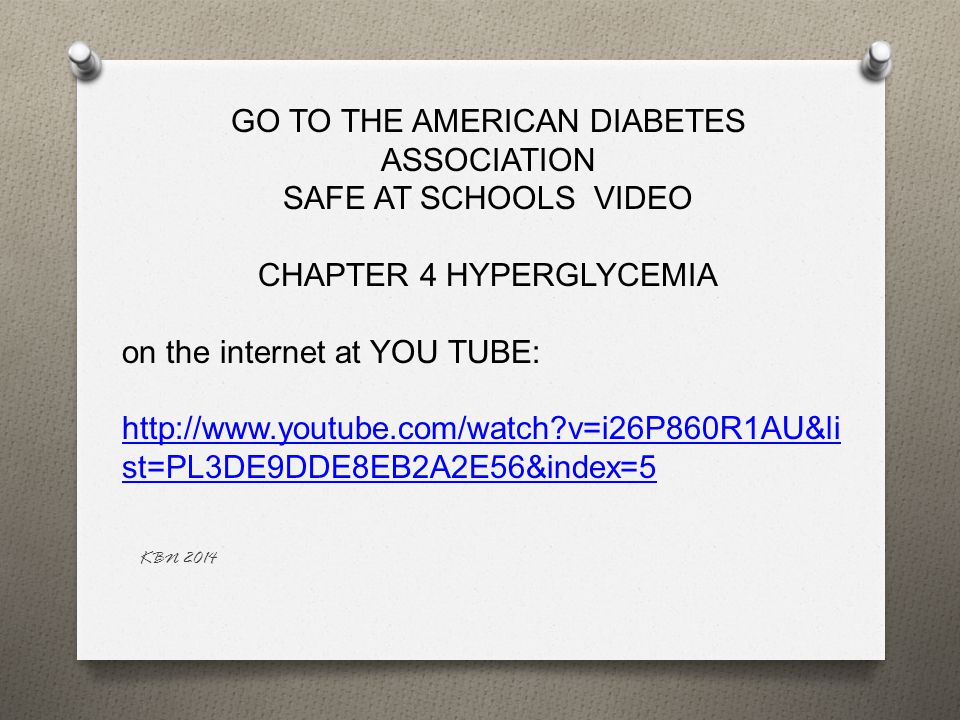 GO TO THE AMERICAN DIABETES ASSOCIATION SAFE AT SCHOOLS VIDEO