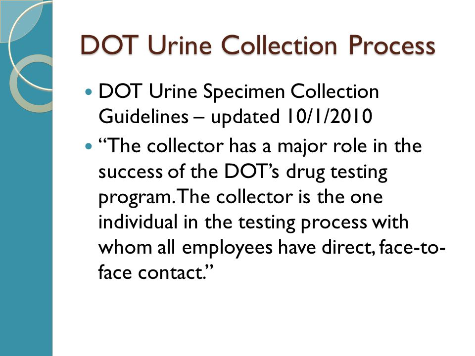 DOT Urine Collection Process