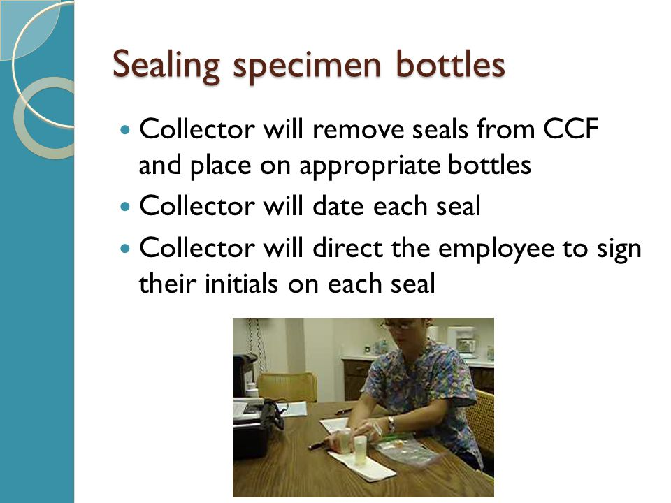 Sealing specimen bottles