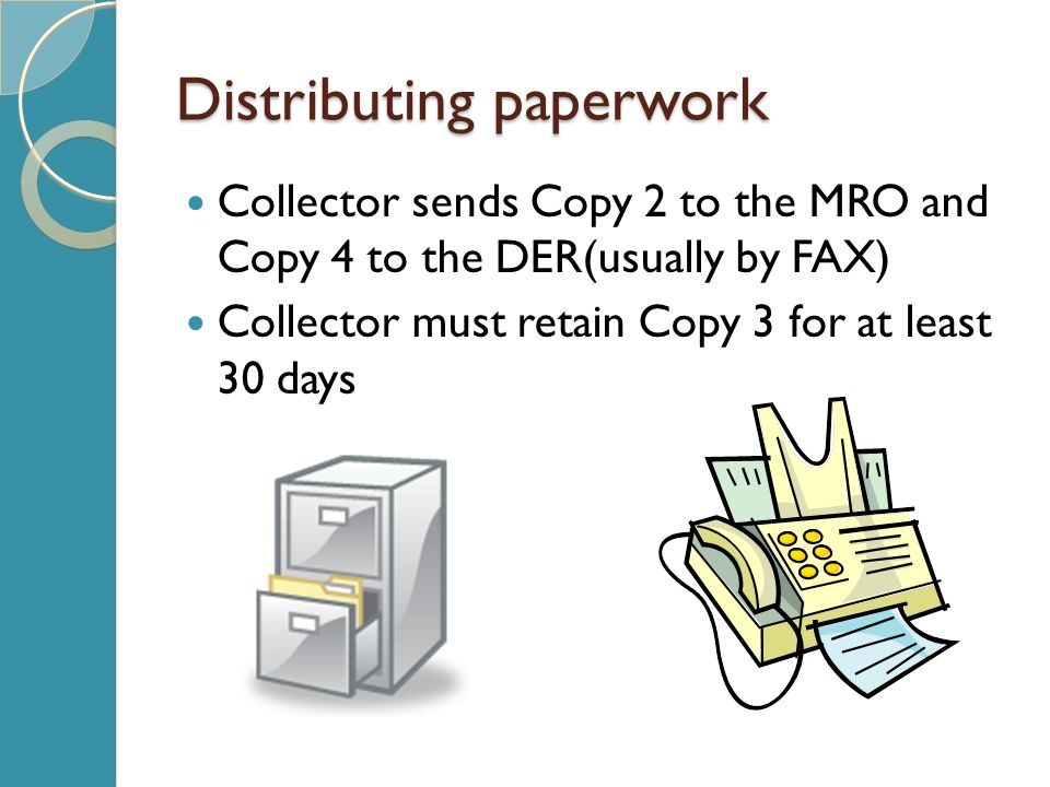Distributing paperwork