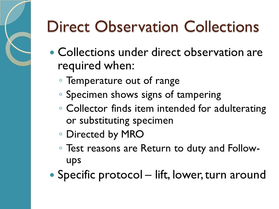 Direct Observation Collections