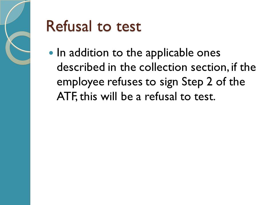 Refusal to test