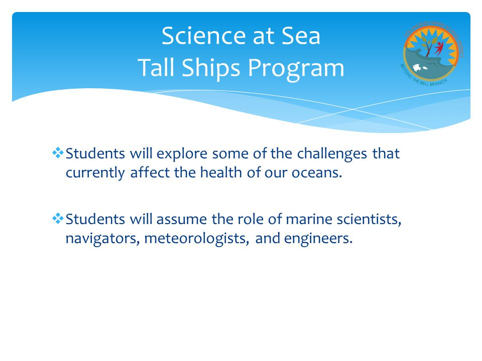 Science at Sea Tall Ships Program