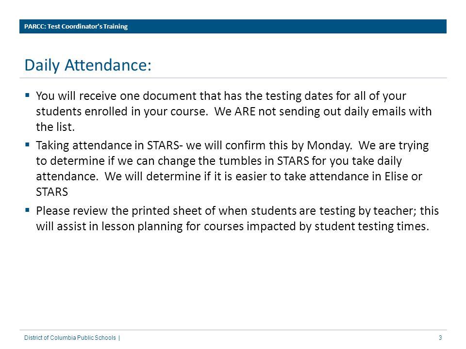 PARCC: Test Coordinator's Training