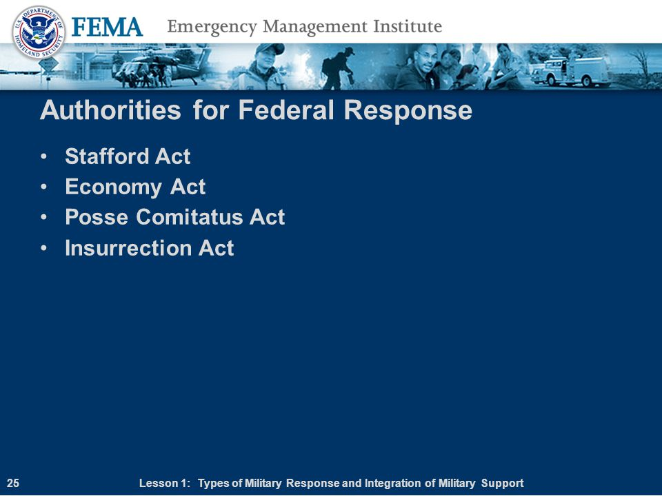 Authorities for Federal Response