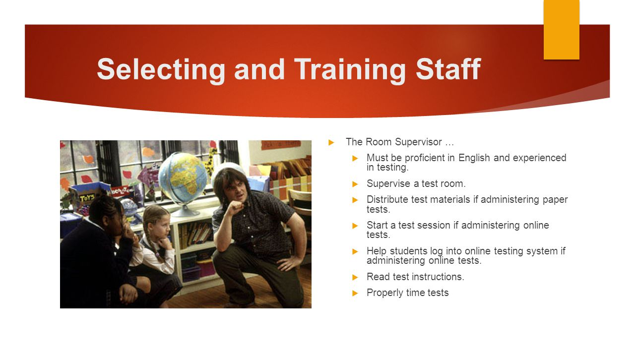 Selecting and Training Staff