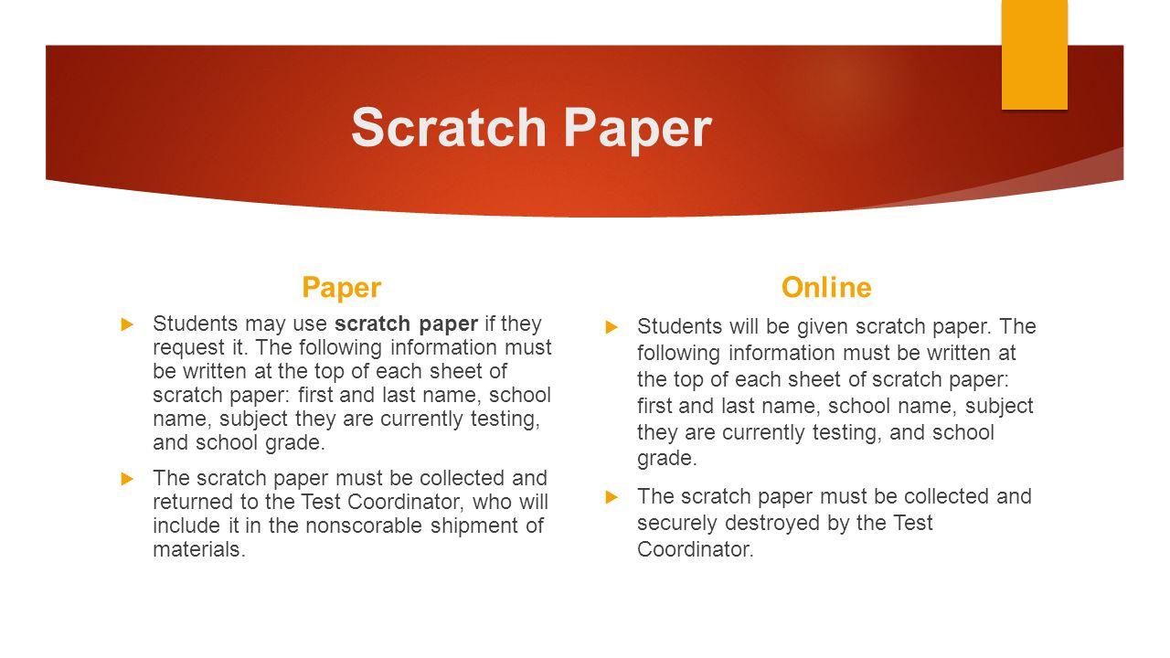 Scratch Paper Paper Online