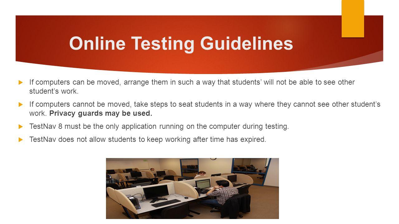 Online Testing Guidelines