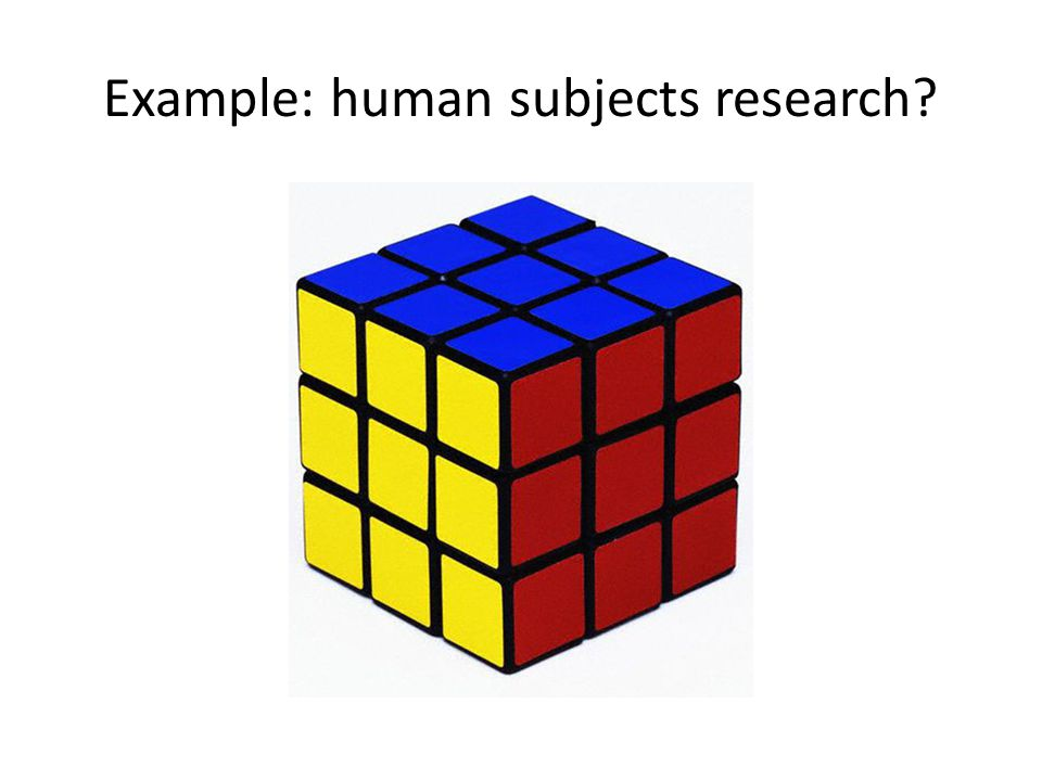 Example: human subjects research