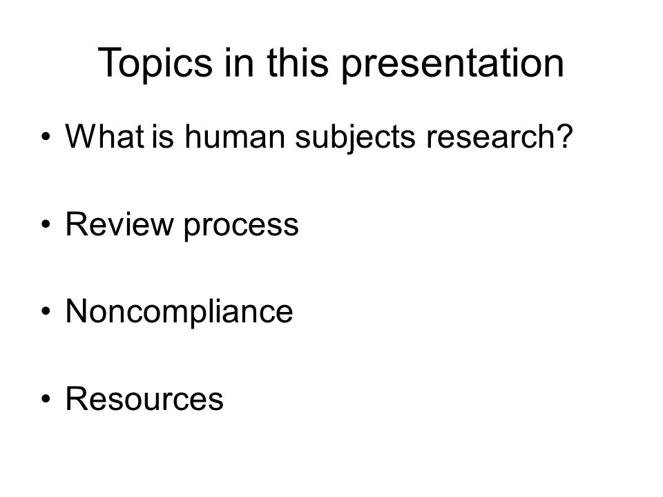 Topics in this presentation