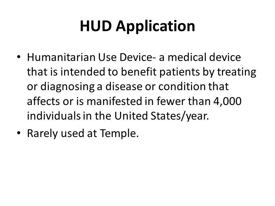 HUD Application