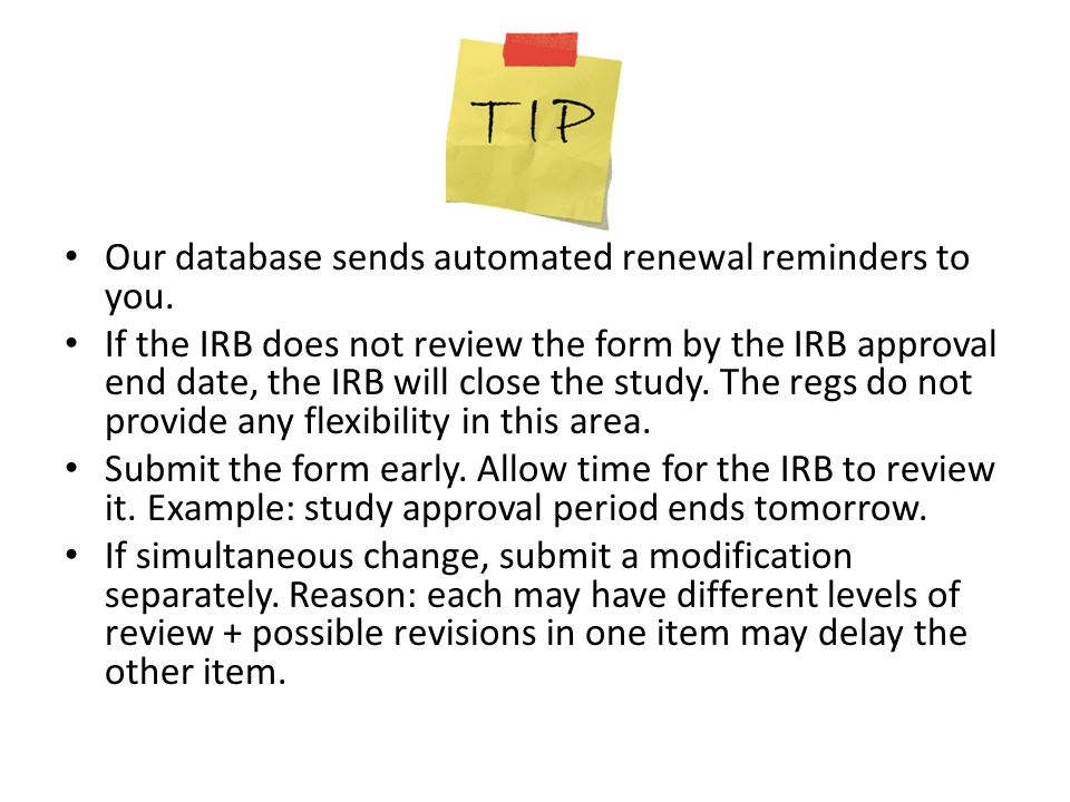 Our database sends automated renewal reminders to you.
