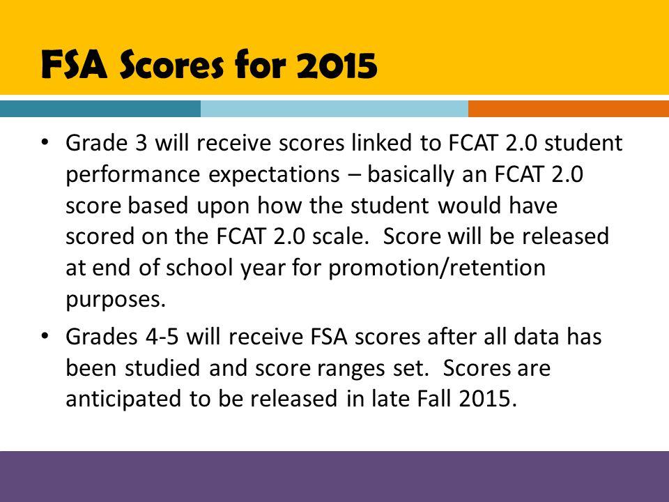 FSA Scores for 2015
