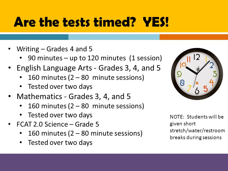 Are the tests timed YES! English Language Arts - Grades 3, 4, and 5